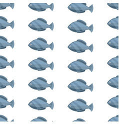 seamless vintage fish drawings pattern vector image vector image