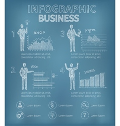 Sketch business infographics vector