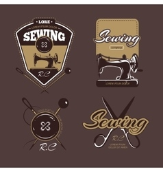 Tailoring color logo labels and badges vector