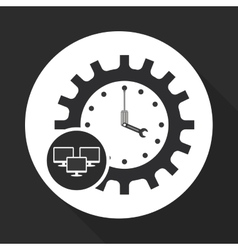 Technical service and call center icon design vector
