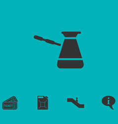 Turkish coffee icon flat vector