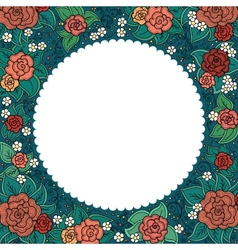 varicolored floral round ornamental frame vector image vector image