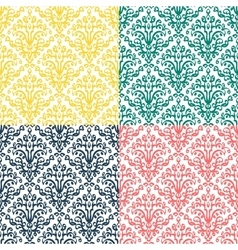 Victorian ornament seamless pattern vector image