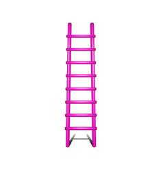 Wooden ladder in pink design leading up vector