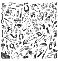 working tools - doodles vector image vector image