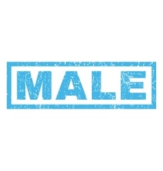 Male rubber stamp vector