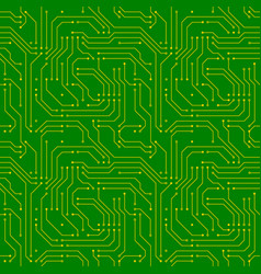 technology background with golden microchip on vector image