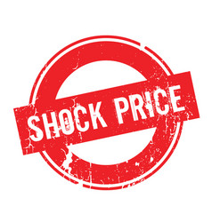 Shock price rubber stamp vector