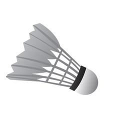 Isolated badminton shuttlecock vector
