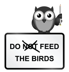 Feed birds vector