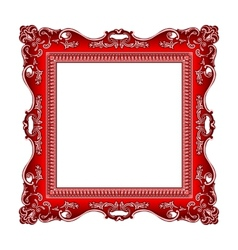 Frame old ornament vector