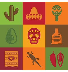 Mexican squares vector