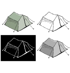 Touristic tent vector