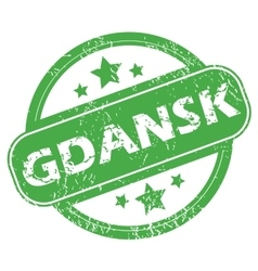 Gdansk green stamp vector