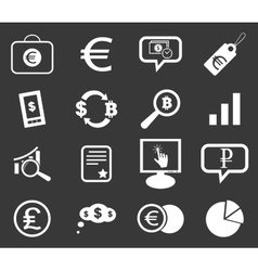 Finance icon set 6 monochrome vector