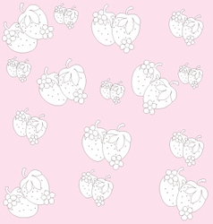 background of small strawberries vector image