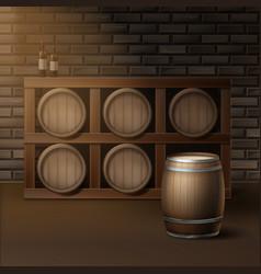 barrels for wine vector image