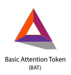 Bat cryptocurrency symbol vector