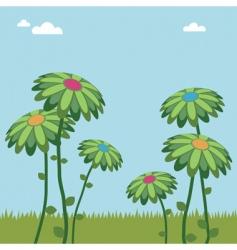 big flowers vector image