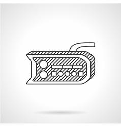 Bike dashboard line icon vector