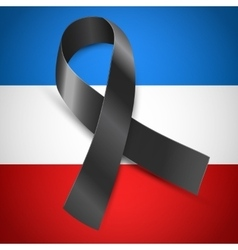 black mourning France vector image