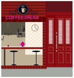 Cafe Shopfront Scene vector image vector image