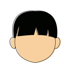 cartoon profile boy little avatar people young vector image vector image