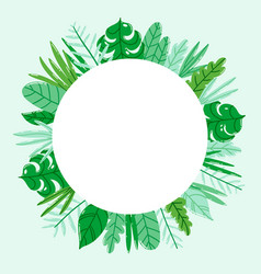 Circle jungle nature frame vector