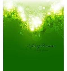 Elegant lime green christmas background vector