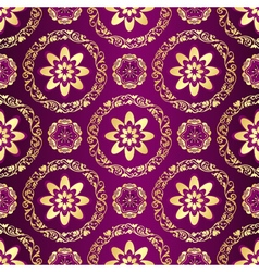 Floral purple seamless pattern vector image vector image