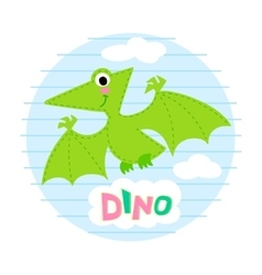 Flying dinosaur vector image vector image