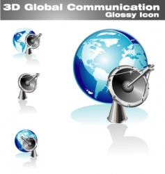 global communication icon vector image vector image