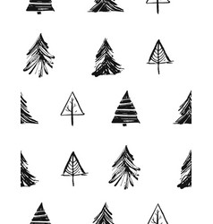 hand drawn merry christmas rough freehand vector image vector image