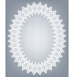 Lace oval frame vector