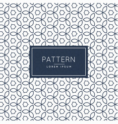 Modern flower line pattern background vector