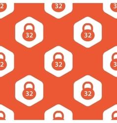 Orange hexagon dumbbell pattern vector