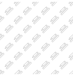 Pencil with ruler pattern seamless vector