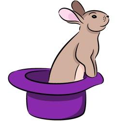 Rabbit in hat vector image vector image