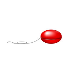 red yo yo vector image