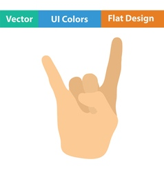 Rock hand icon vector