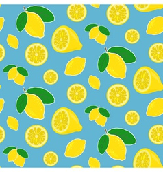 Seamless lemon pattern in bright happy colors vector image vector image