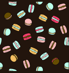 seamless pattern with doodle sweet french vector image