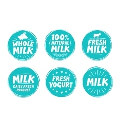 set labels for milk yogurt Collection vector image