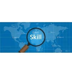 Skill shortages find search talented worker vector