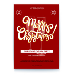 template of greetings poster of merry christmas vector image vector image