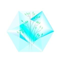 tree in diamond vector image vector image