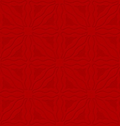 Triangle wavy red embossed seamless vector image vector image