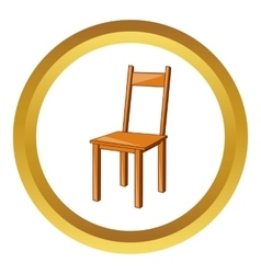 Wooden chair icon vector