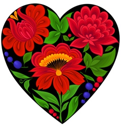 Floral backgroundsflowerheart love vector