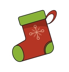 Isolated boot of christmas season design vector